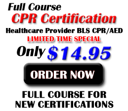 Get your online AED CPR Certification