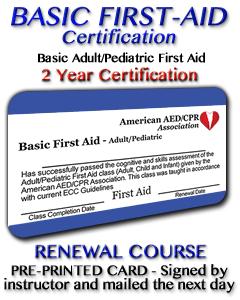 Basic First Aid Renewal - Pre-printed Card