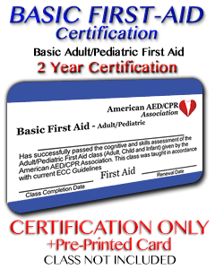 Online First Aid Certification