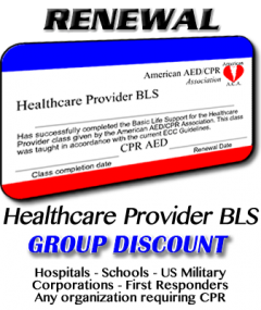 Healthcare Provider BLS Renewal Course