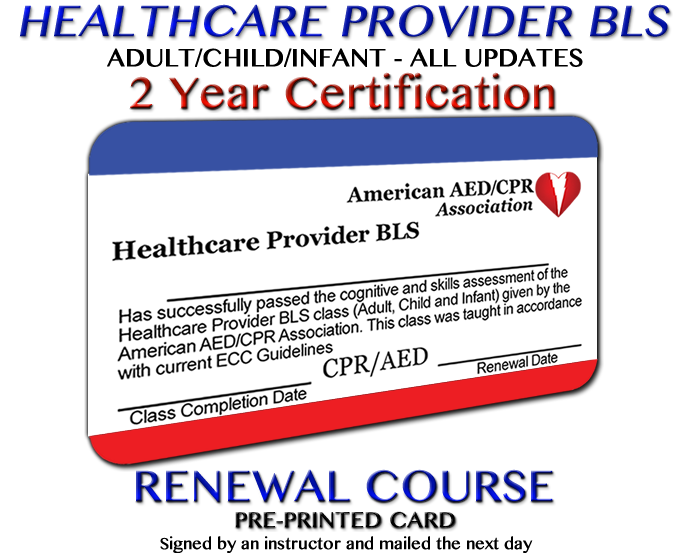 Aedcpr Healthcare Provider Bls Course Preprinted Instructor