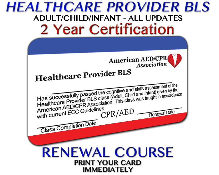 aedcpr - healthcare provider bls renewal course - accredited in all ...