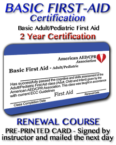 Basic First Aid Renewal - Pre-printed Card