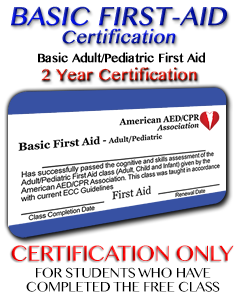 Online Basic First Aid Certification