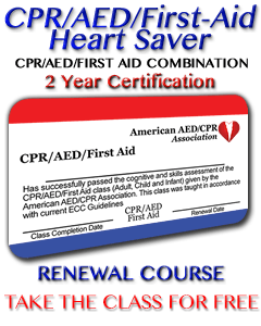 Online CPR/AED/First-Aid Recertification Class