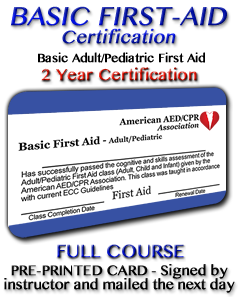 Basic First Aid Course - Pre-printed Card