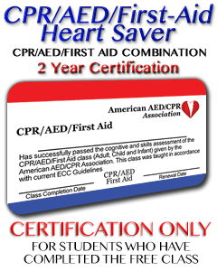 Online Heart Saver CPR AED First-aid Certification