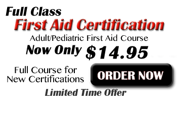 Get your online First Aid Certification