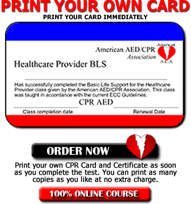 Online CPR Renewal - Print your own card