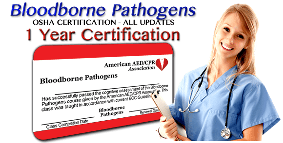 aedcpr - free osha bloodborne pathogens certifications - accredited