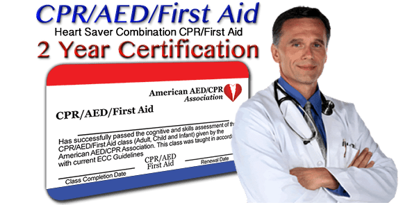 Online CPR/AED/First-Aid combination certification